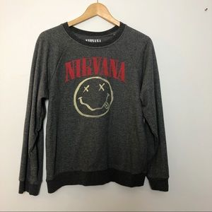 Tops - Nirvana crew neck sweatshirt